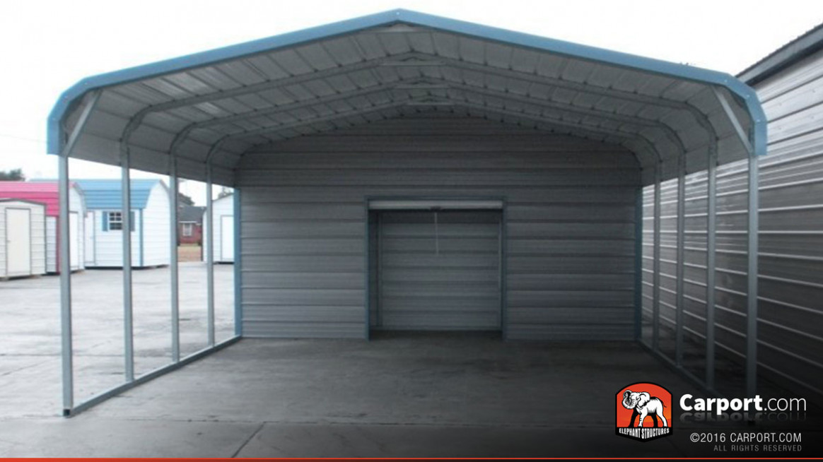 10 Car Carport 10' X 106' With Utility Shed   Shop Metal Carports Online! How To Move A Portable Carport