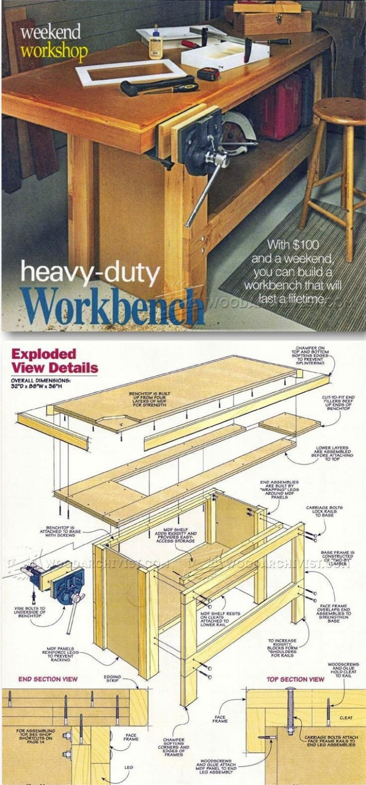 1000+ Ideas About Workbench Plans On Pinterest ..