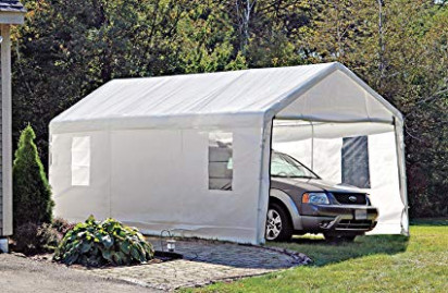 Amazon.com: ShelterLogic Portable Garage Canopy Carport, 9' X 9 ..