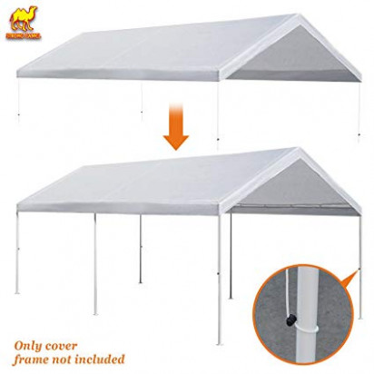 Amazon.com: Strong Camel 11'x11' Carport Replacement Canopy Cover ..