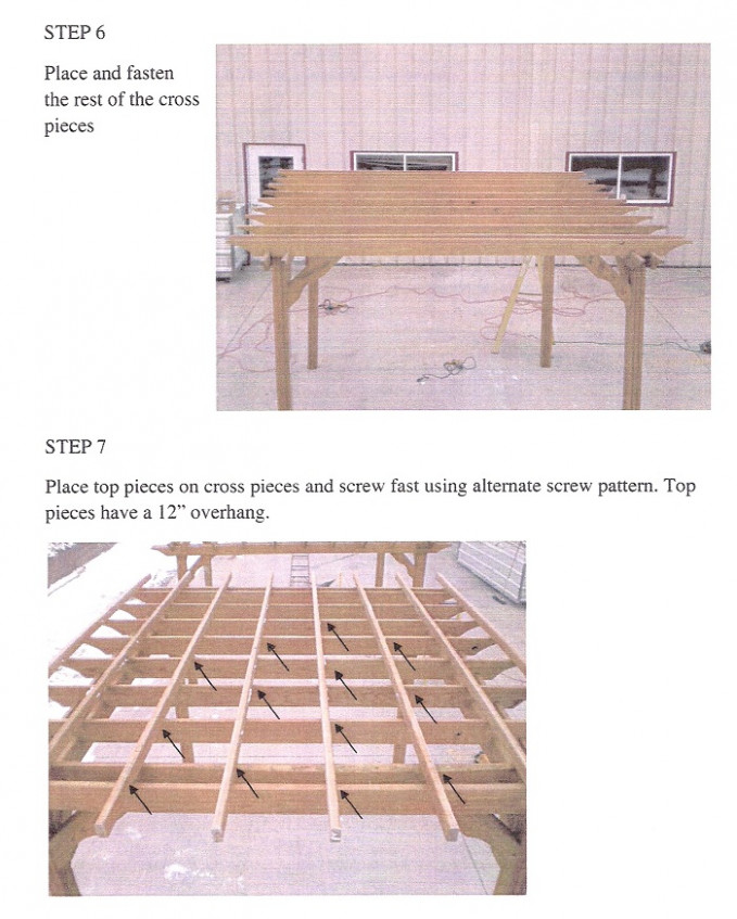 Easy To Use Pergola Kit Assembly Instructions Available At ..