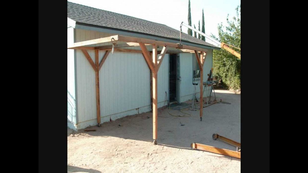 How I Built A Rolling Carport For Little Money YouTube Making A Portable Carport