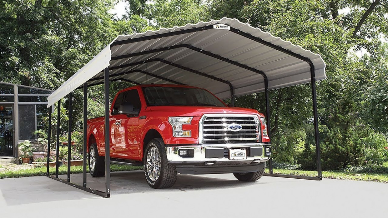 How To Assemble The All Steel Carport From Arrow Storage Products ..