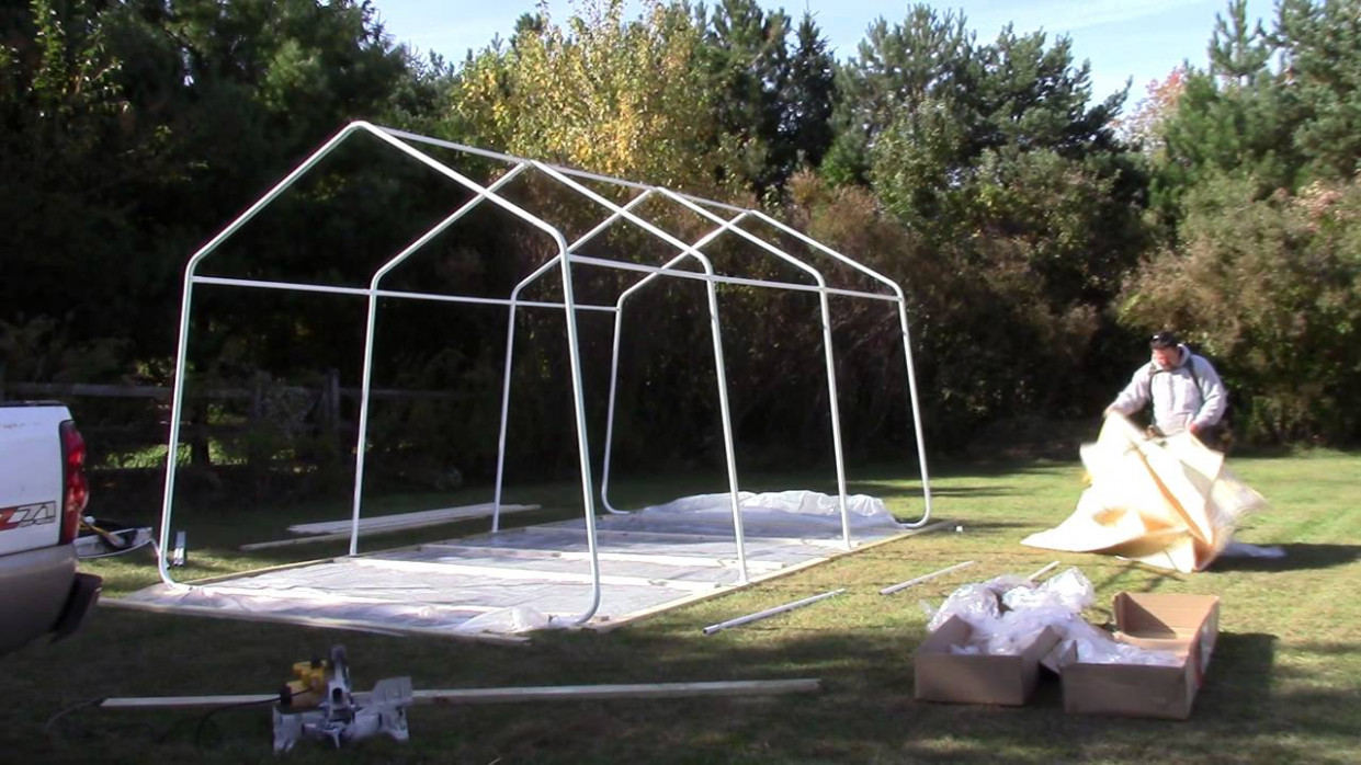 How To Build The Harbor Freight Portable Garage YouTube Make Your Own Portable Carport
