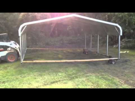 moving a portable carport