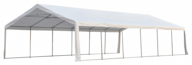 Outsunny 8x8 Party Tent Event Canopy With Sidewalls And Windows ..