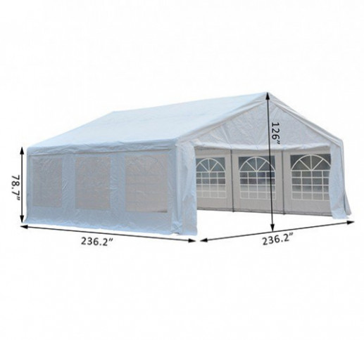Outsunny White Carport Party Tent | Creative Car Port Idea Outsunny White Carport Party Tent Canopy