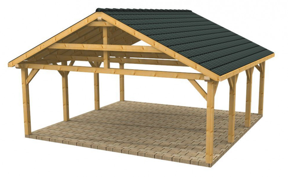 Wooden Carports And Garages | Wood Frame Carport Designs ..