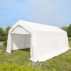 11m X 11m White Heavy Portable Garage Tent Shelter Carport Canopy ...