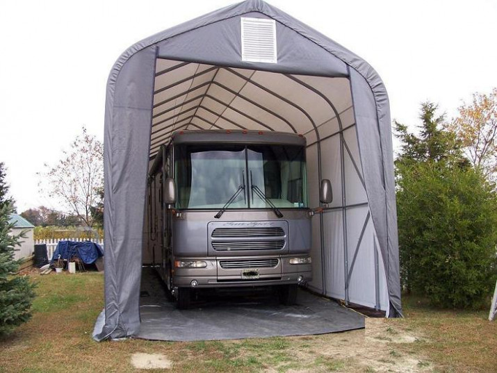 15x36x16 Peak ShelterLogic RV Boat Portable Garage Canopy ...