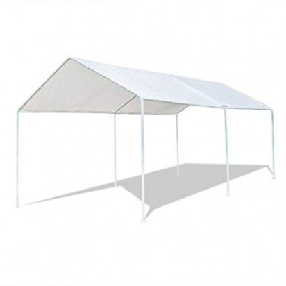 Amazon.com: VINGLI 9'x9' Domain Carport Car Canopy, Upgraded ...
