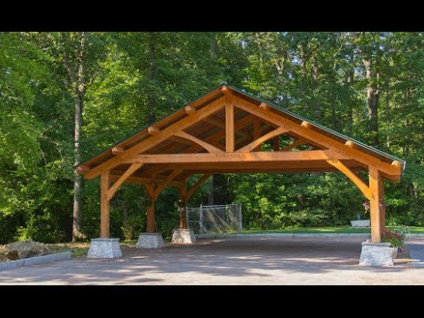 Beach Wood Timber Frame Carport Build - Part 2 - YouTube