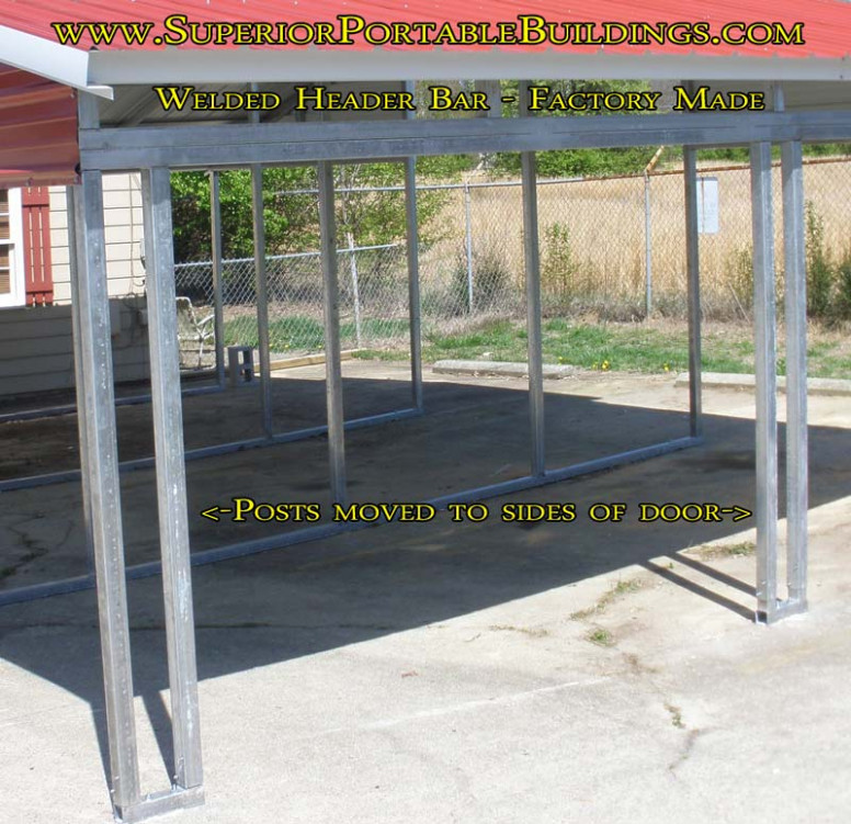 Carport colors, sizes and information.