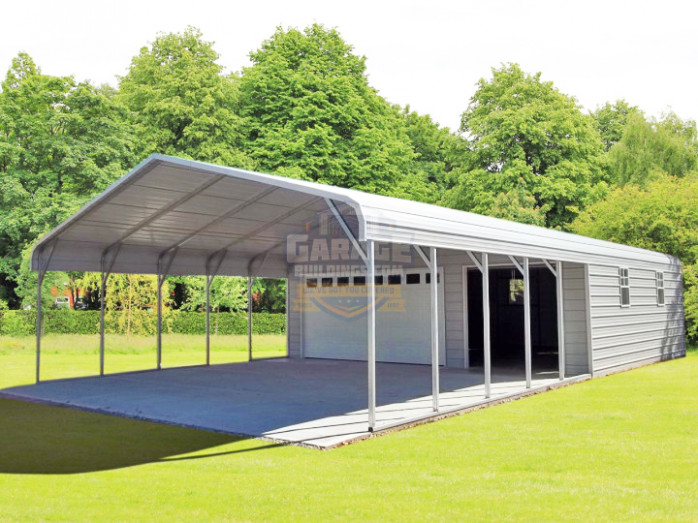 Carport Garage Combo | Combo Metal Buildings at Affordable Prices