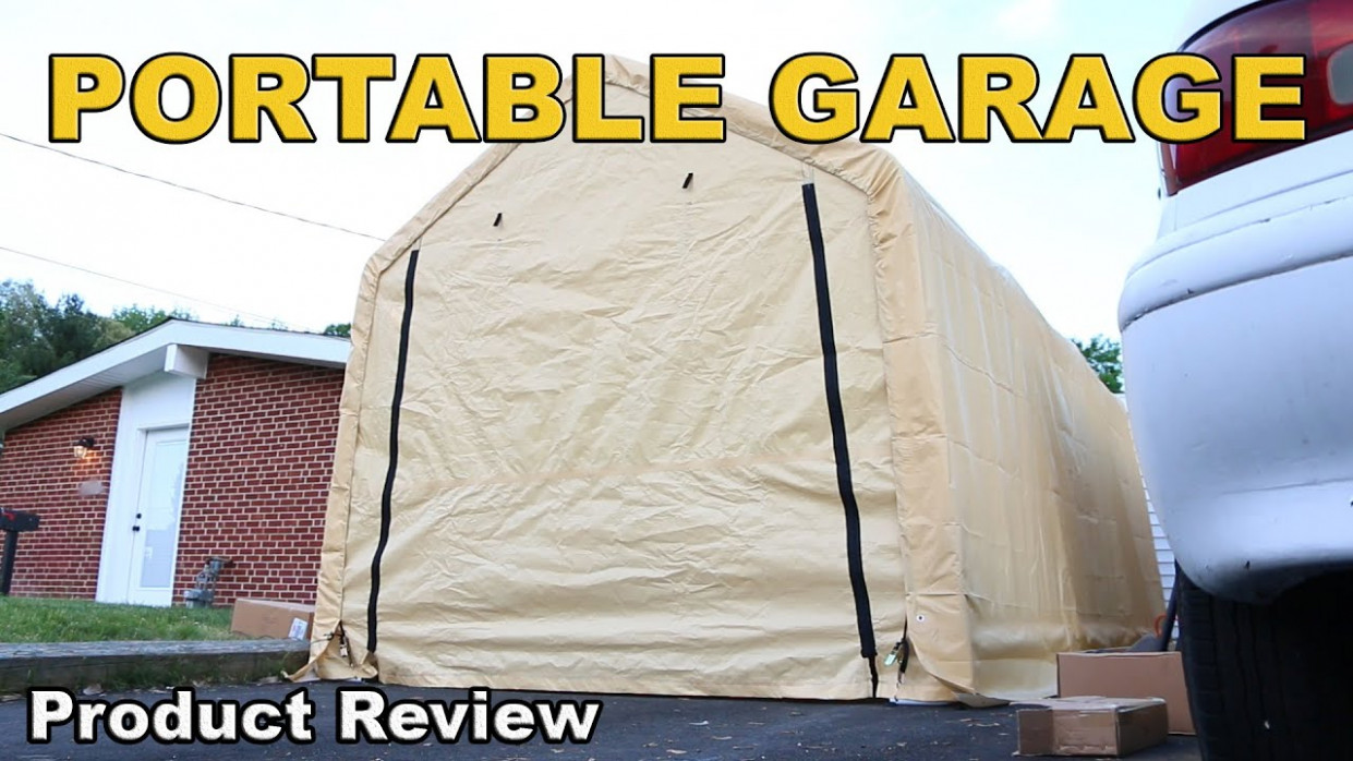 Harbor Freight Portable Garage Review 12 x 12 - YouTube