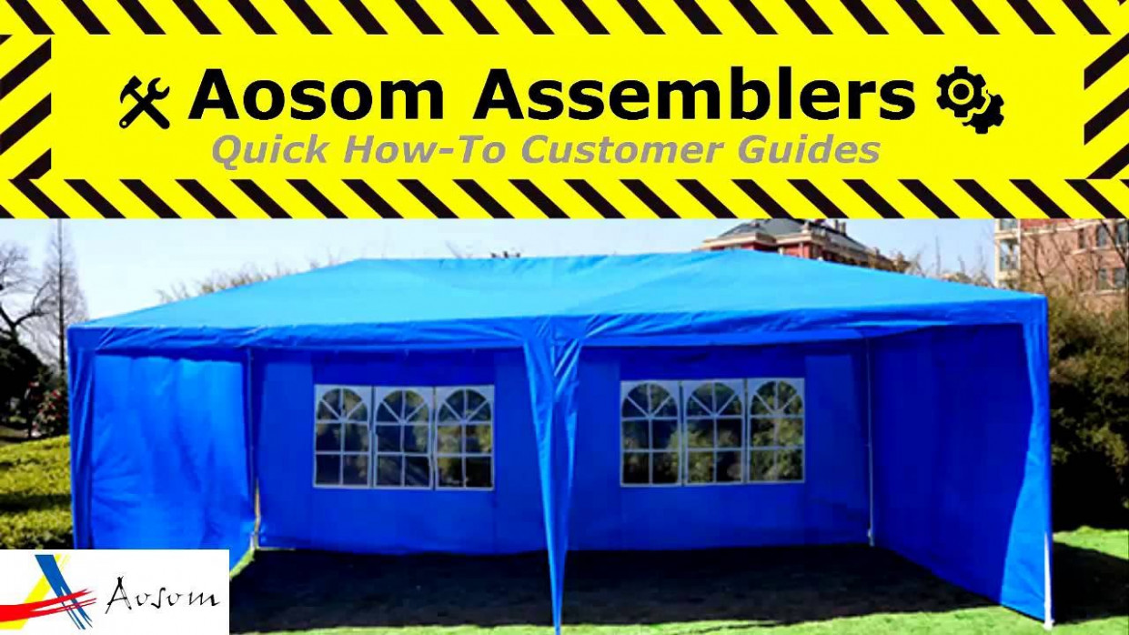 How to Assemble the Outsunny 13 x 13 Gazebo Canopy Tent: Aosom ...