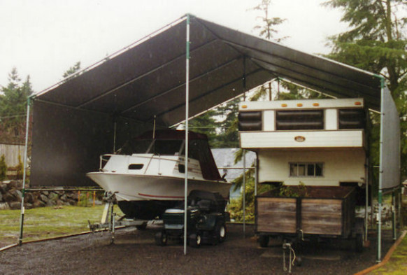 Make-Your-Own 20'x40' 2-Car Portable Carport for your RV ...
