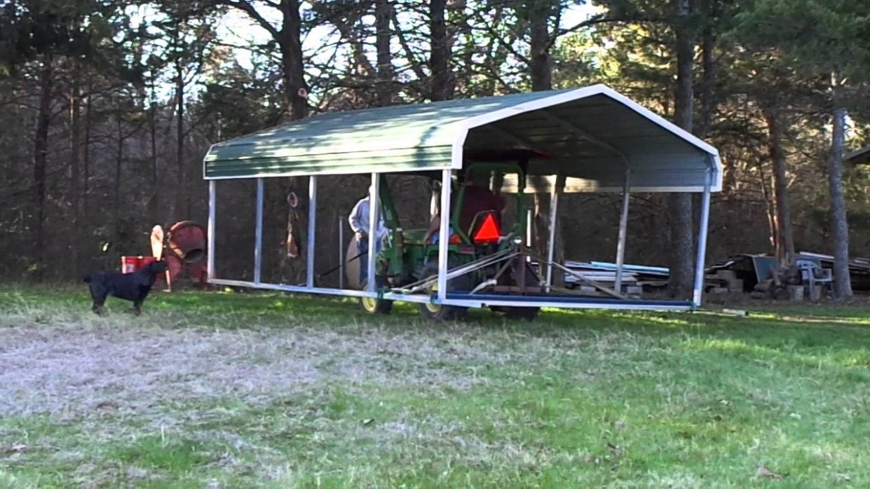 Moving a carport 9 - YouTube
