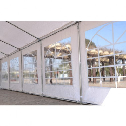 Outsunny 10'W x 10'D Outdoor Carport Canopy Party Tent with ...