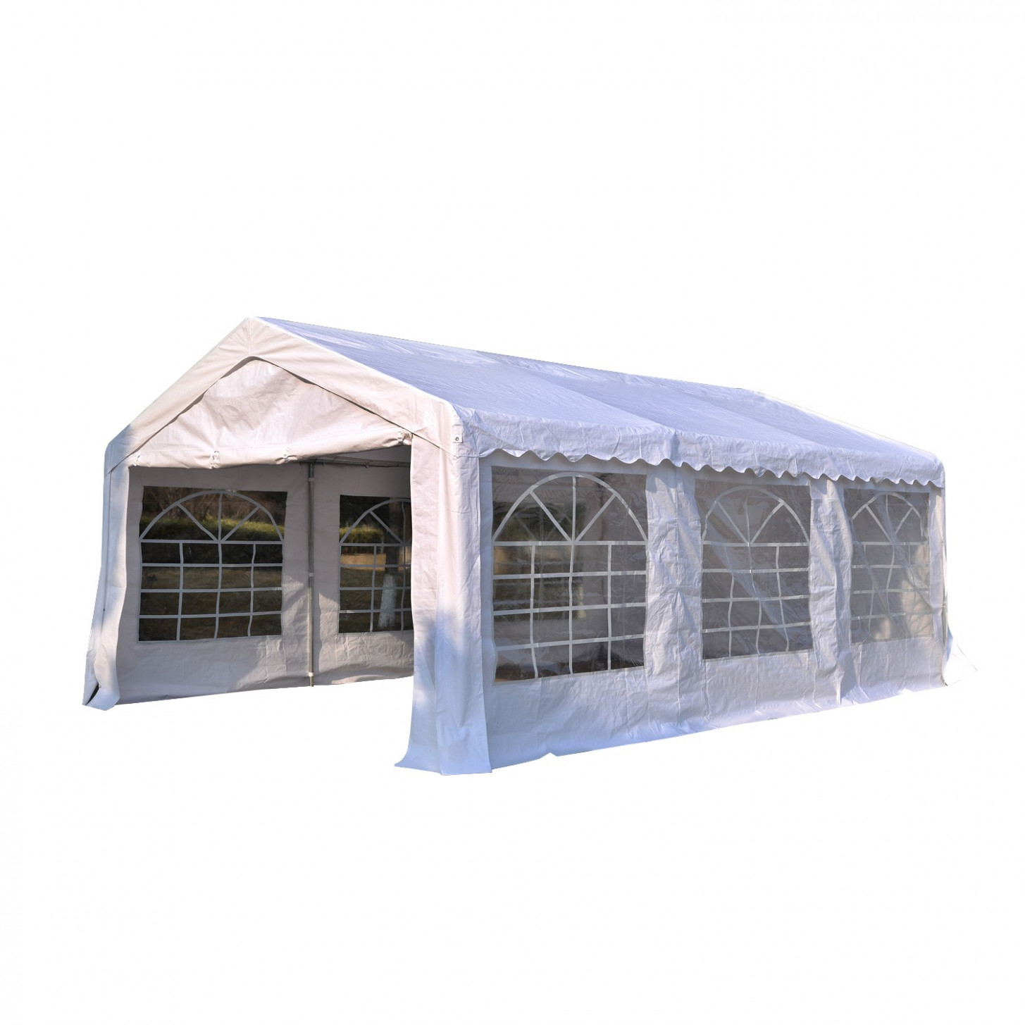 Outsunny 13'x26' Heavy-duty Outdoor Carport Wedding Party ...