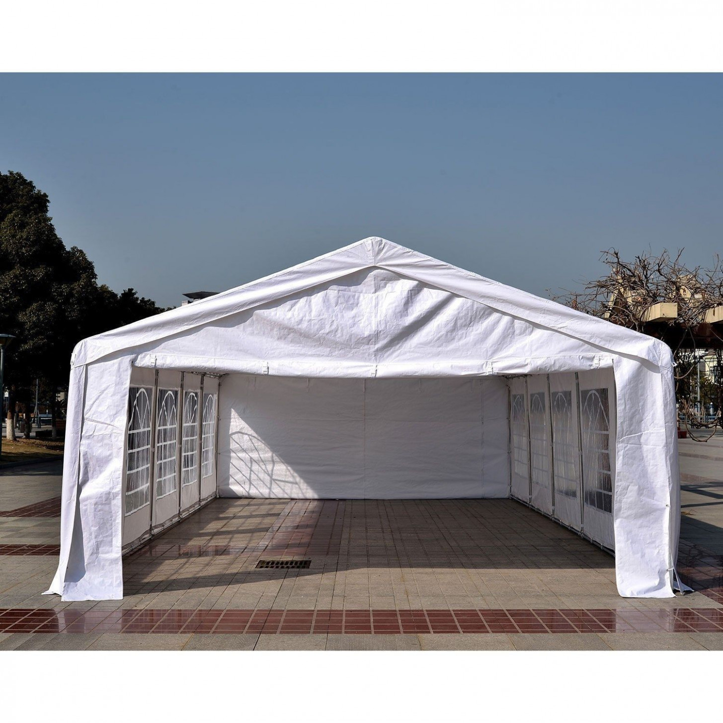 Outsunny HEAVY DUTY 32x16FT Large Carport Canopy Wedding ...