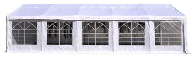 Outsunny White 10'x10' Heavy Duty Carport Canopy, Tent Garage ...
