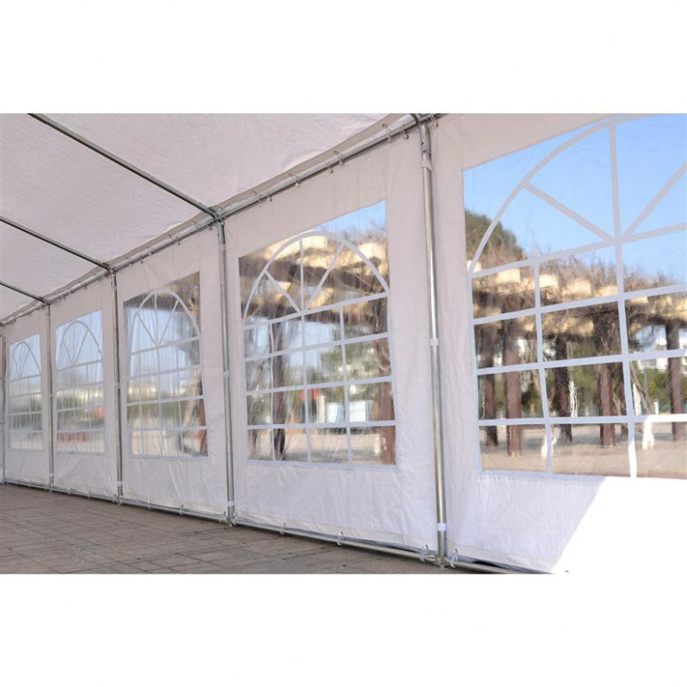 Outsunny White 32'x16' Heavy Duty Carport Canopy Wedding ...