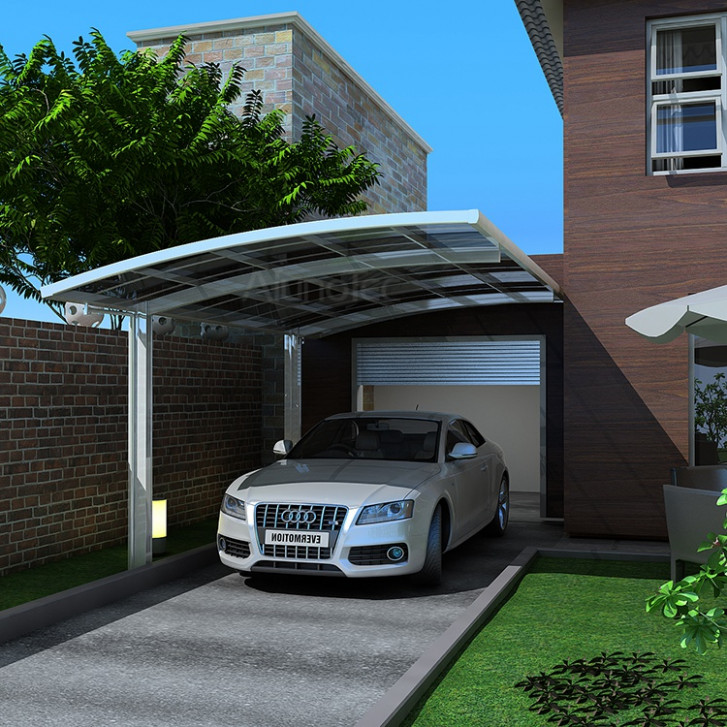 Polycarbonate Sheet Double Car Shelter Outdoor Carport Canopy With ...