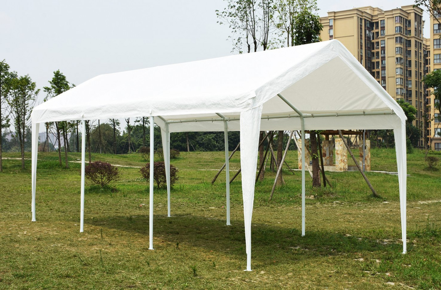 Quictent 10x20 White Portable Garage Carport