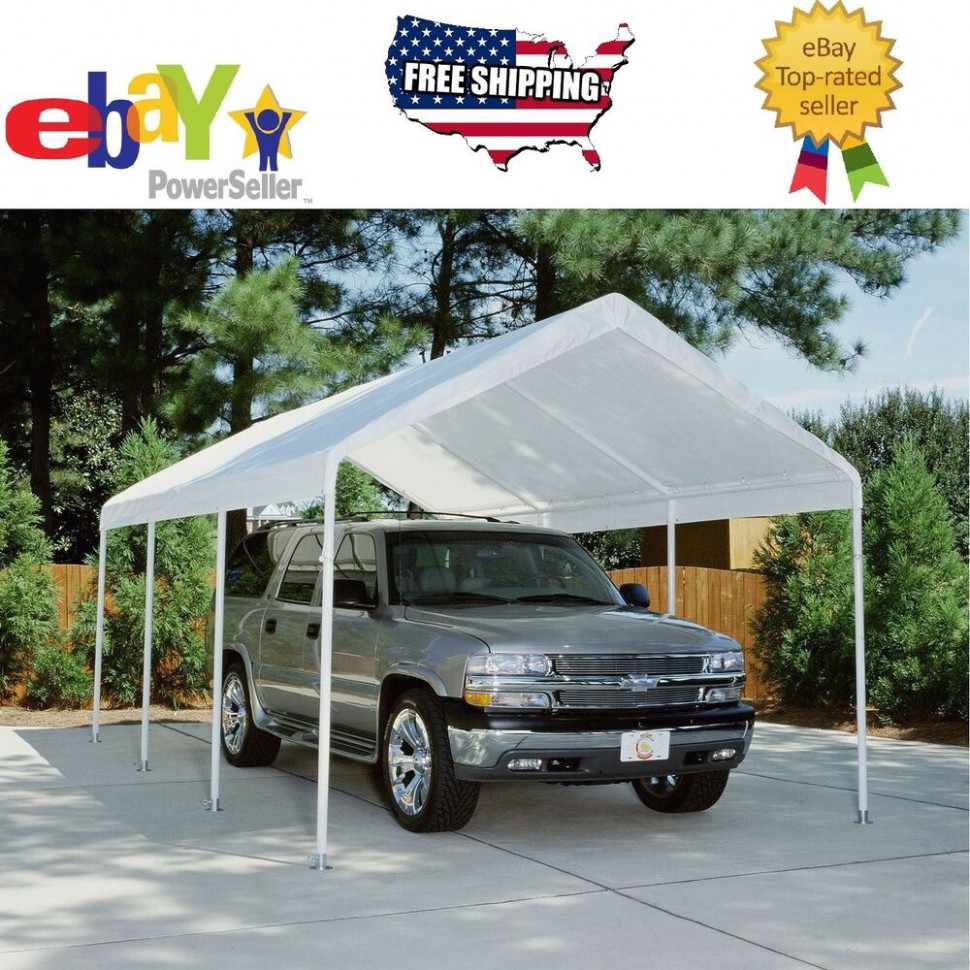 Replacement Canopy - White - 12' x 20', Carport Cover Tent ...