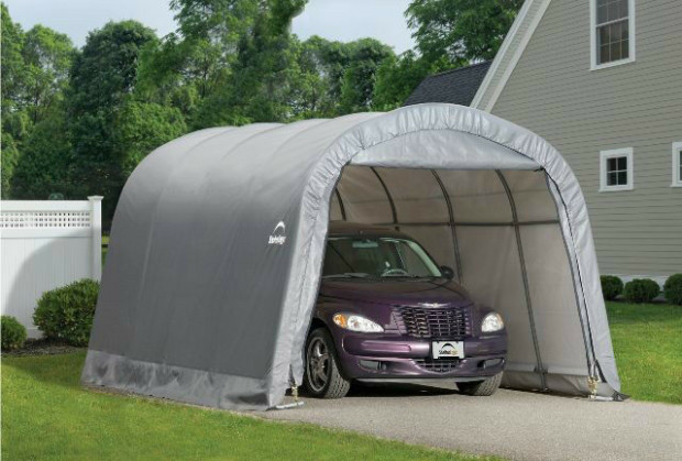 ShelterLogic 12x20 Round Shelter Portable Garage Steel ...