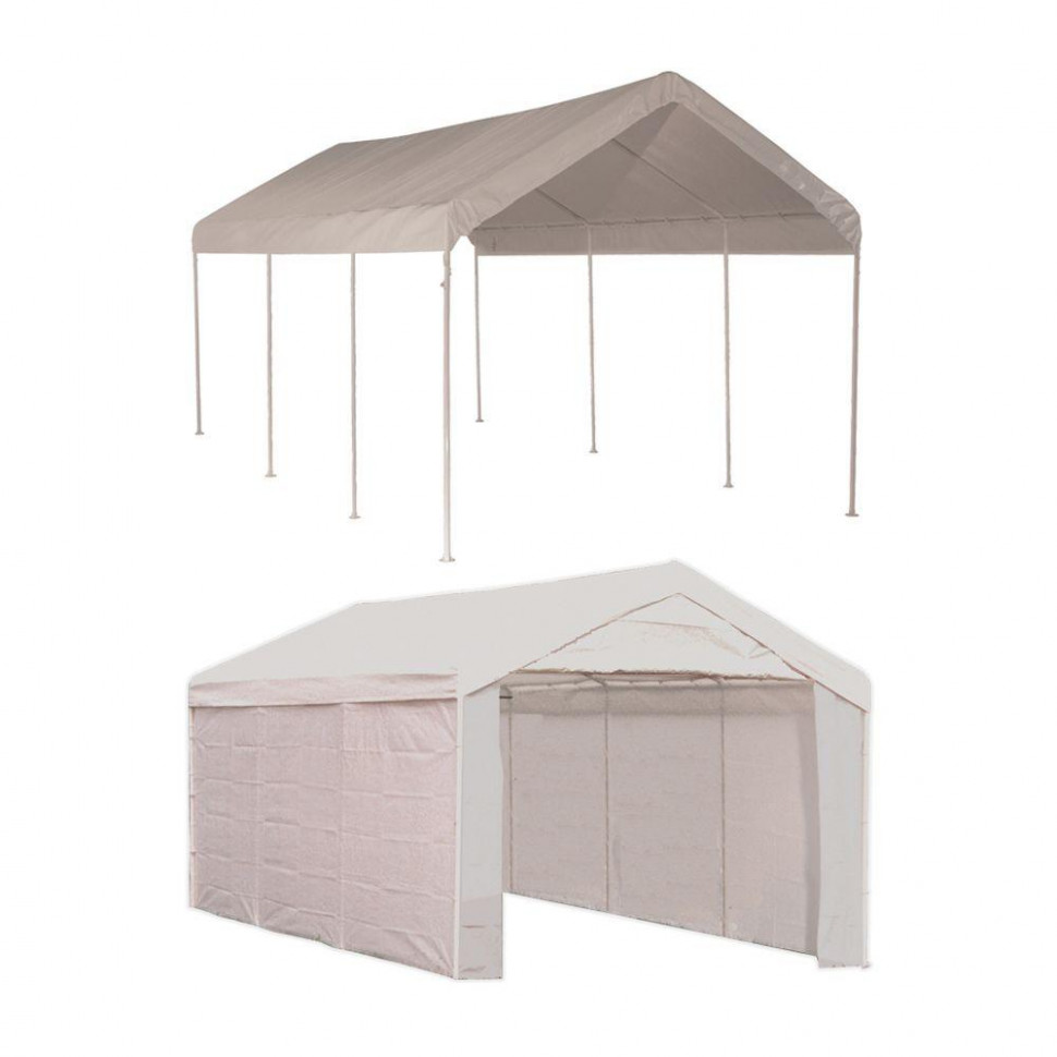 ShelterLogic Max AP 100 ft. x 100 ft. 100-in-10 White Canopy with ...