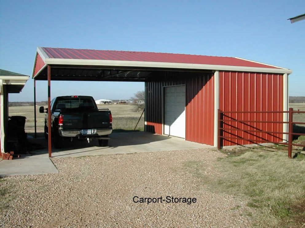 Storage Shed with Carport | Quality metal buildings, awnings and ...