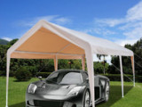 10' X 20' Steel Frame Canopy Shelter Portable Carport Car ..