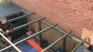 Fitting Corrugated Roof In Timelapse Youtube How To Fit A Carport Roof.jpg