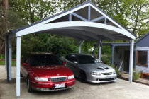 Backyard Ideas Flat Roof Carport Kits House With Bay Flat Roof Double Carport Plans.jpg