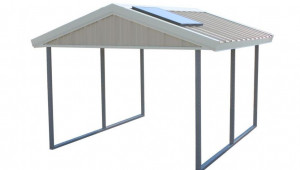 Pws Premium Canopy 13 Ft X 13 Ft Ash Grey And Polar White All Steel Carport Structure With Durable Galvanized Frame Steel Carport Canopy.jpg