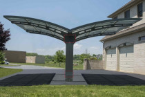 Arizona 10 Wave Double Carport Contemporary Carport Uk