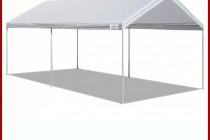 Details About White Heavy Duty Canopy Tent 9×9 FT Steel Carport Portable Car Shelter 9 Legs Prices For Canopy Carports