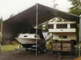 Make Your Own 20'x40' 2 Car Portable Carport For Your RV ..