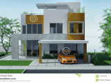Modern House With Carport Lawn With Mini Garden. 13d ..
