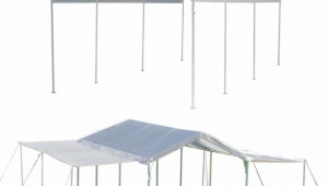 ShelterLogic 10 X 20 Max AP 8 Leg Canopy Shelter With ..